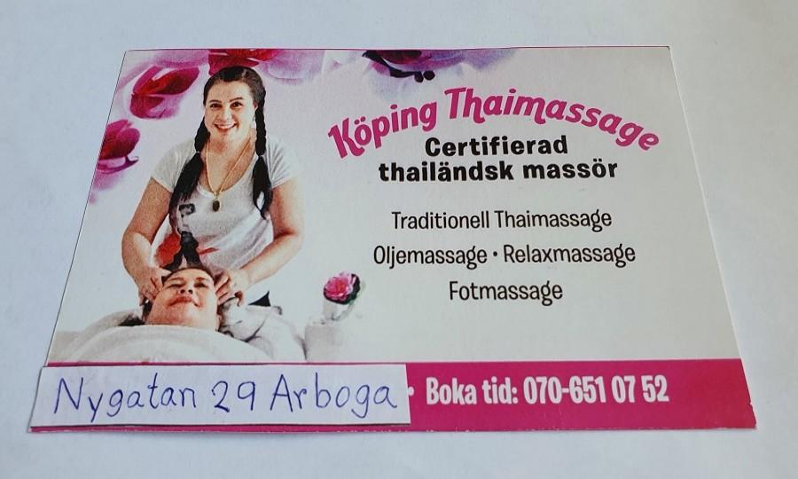 Köping thaimassage 5